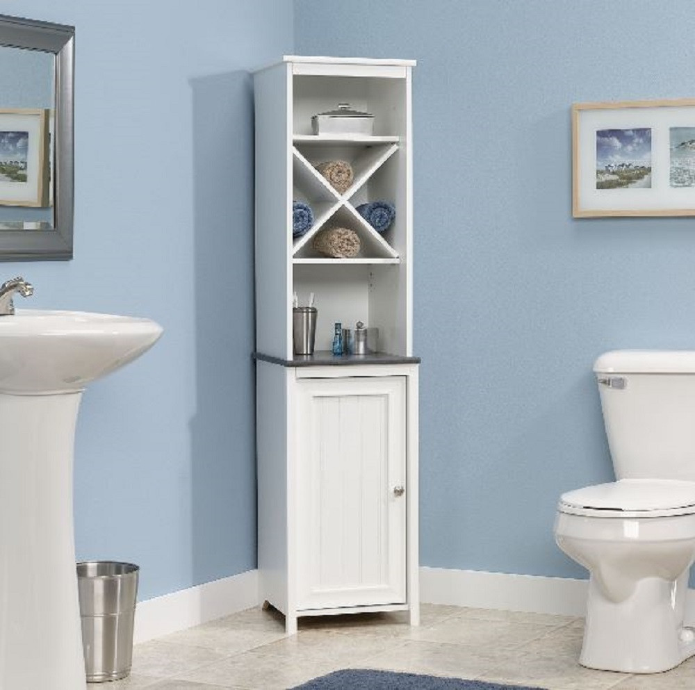 Best ideas about Bathroom Linen Tower . Save or Pin Narrow Bathroom Storage Cabinet Towel Linen Tower Bath Now.