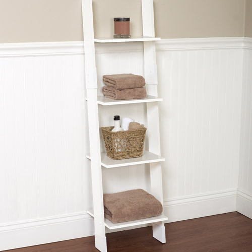 Best ideas about Bathroom Linen Tower . Save or Pin Hawthorne Bathroom Wood Ladder Linen Tower White Now.