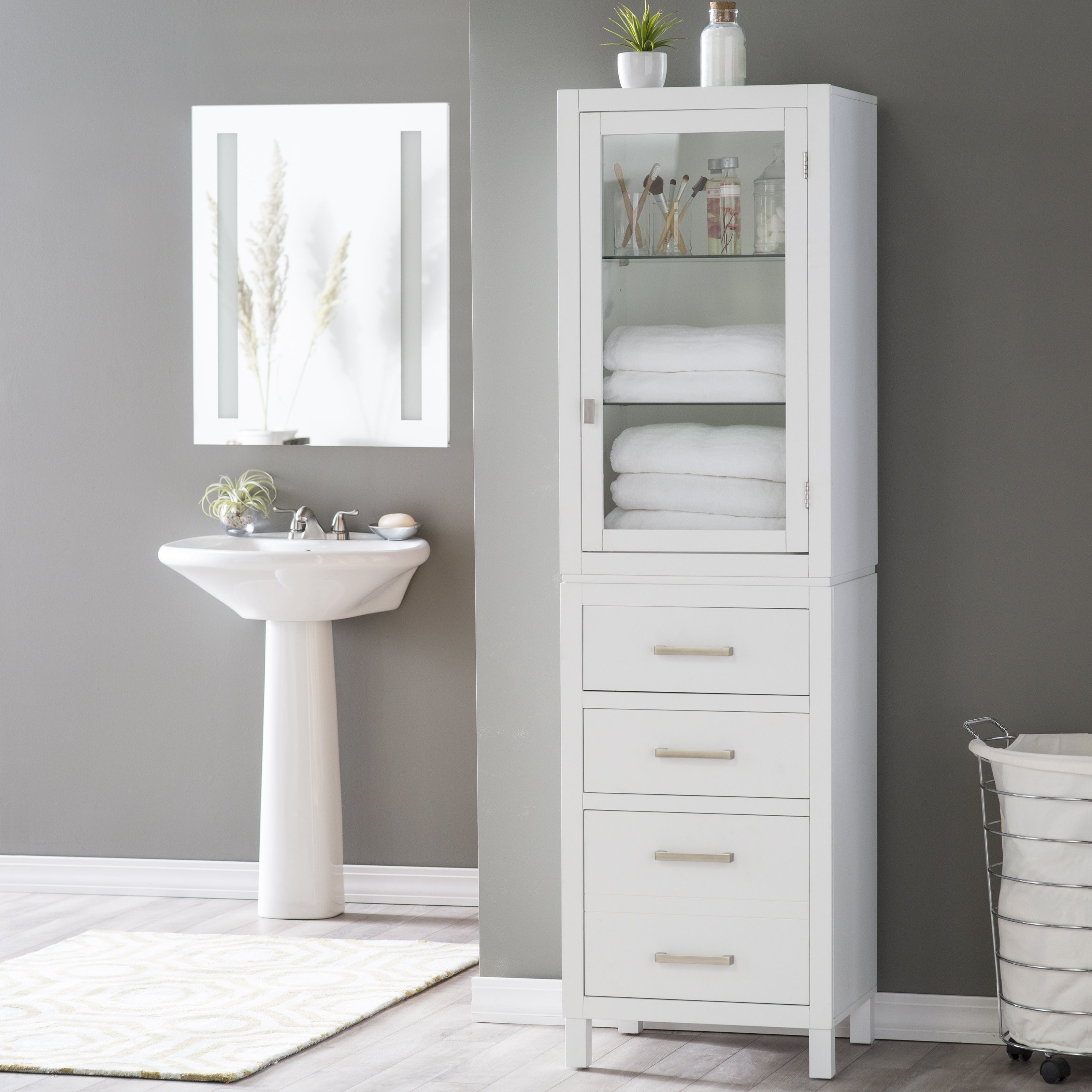 Best ideas about Bathroom Linen Tower . Save or Pin Belham Living Longbourn Linen Tower Linen Cabinets at Now.