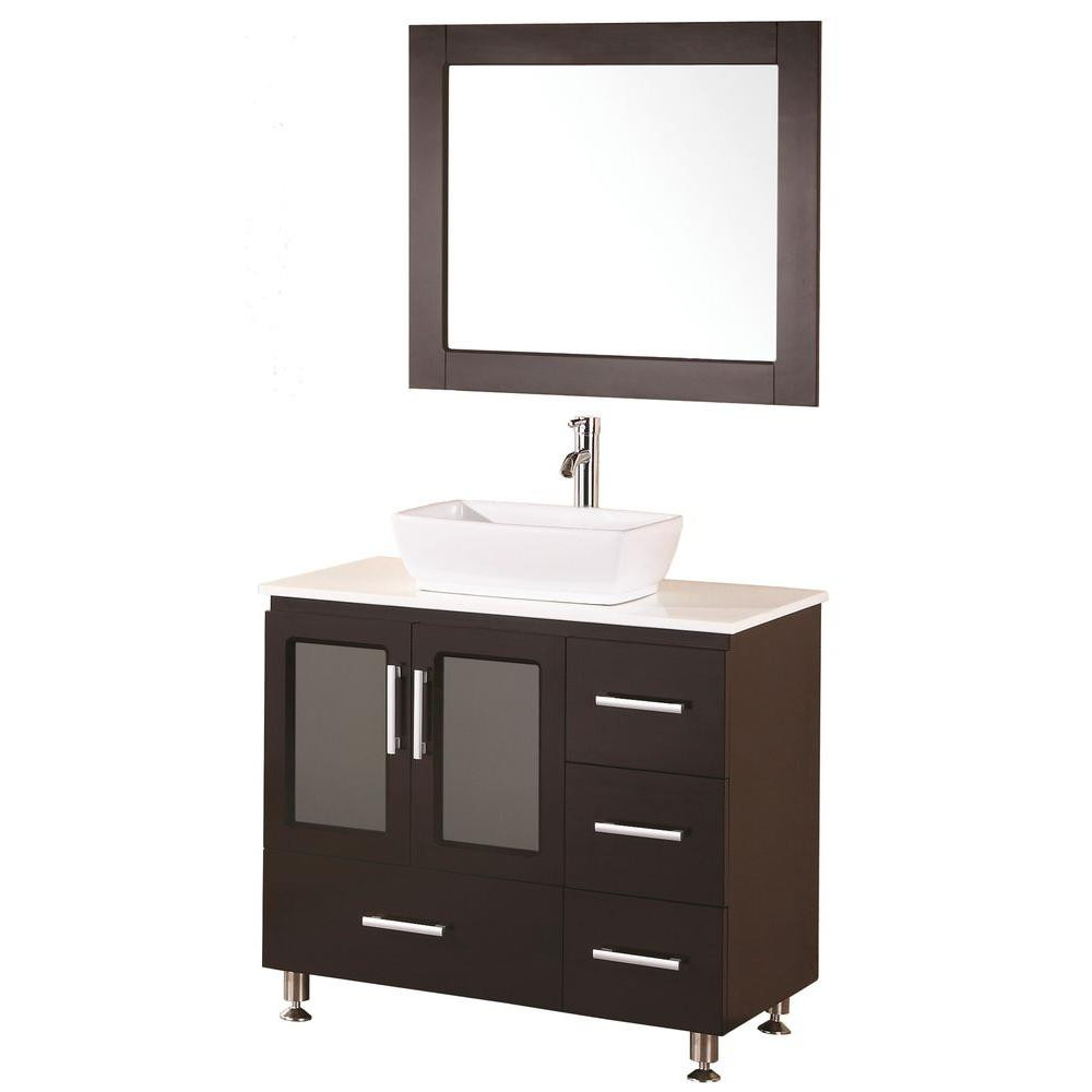 Best ideas about Bathroom Vanity Home Depot . Save or Pin Bathroom Vanities Vessel Sinks Home Depot Bathroom Now.