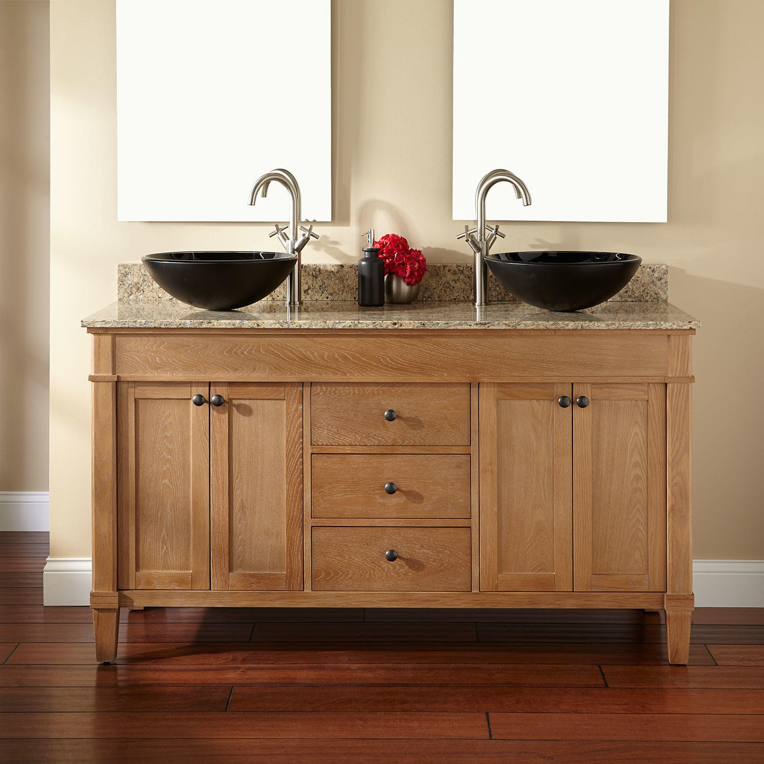 Best ideas about Bathroom Vanity Home Depot . Save or Pin Teak vanity cabinet bathroom vanity cabinet with vessel Now.