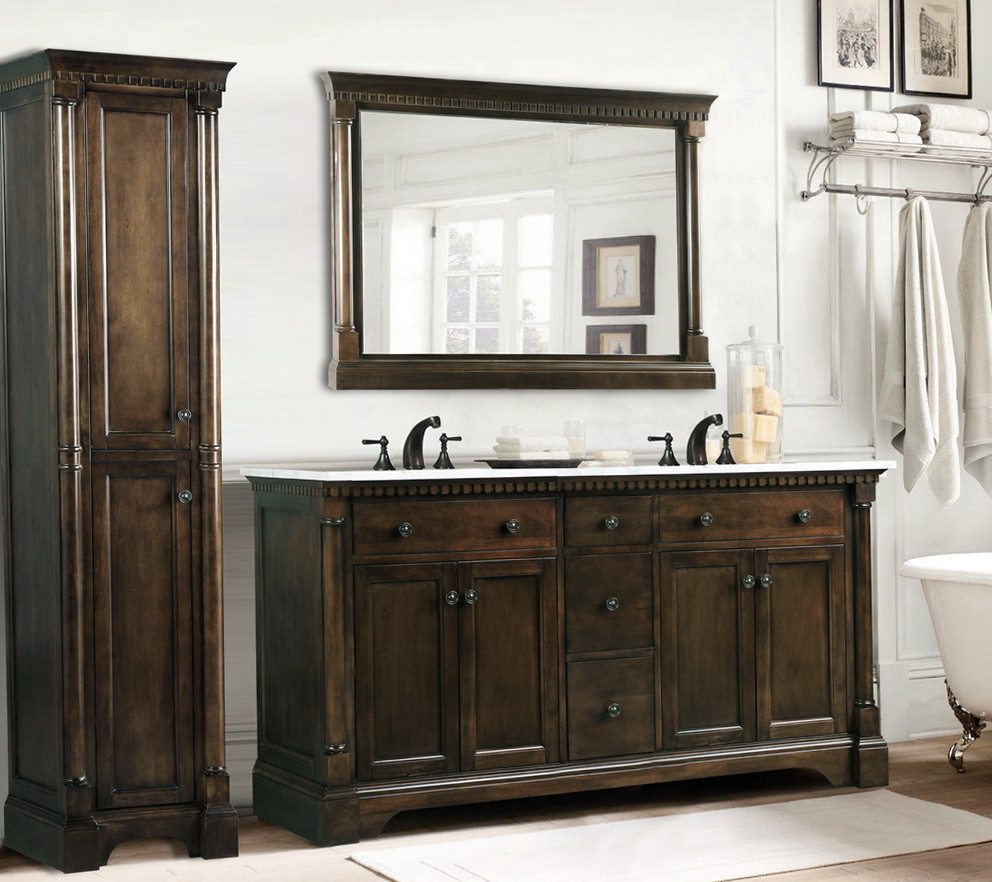 Best ideas about Bathroom Vanity Home Depot . Save or Pin 60 Inch Bathroom Vanity Double Sink Home Depot Now.