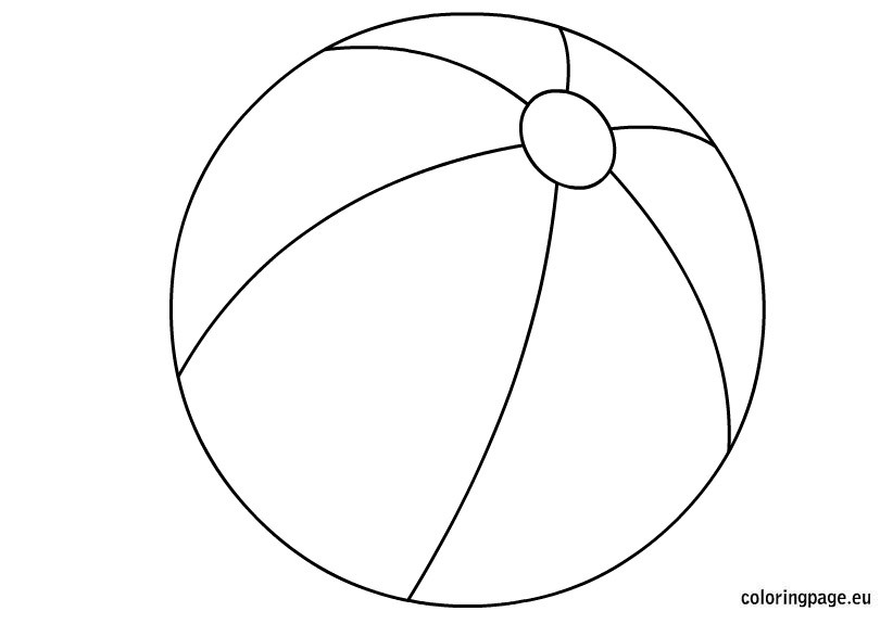 Beach Ball Coloring Pages For Kids Printable  Beach ball 12 Objects – Printable coloring pages