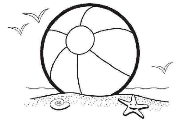 Beach Ball Coloring Pages For Kids Printable  Beach Ball Coloring Pages Free