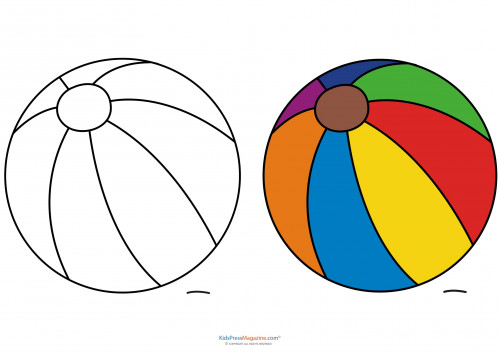 Beach Ball Coloring Pages For Kids Printable  Match Up Coloring Pages – Beach Ball KidsPressMagazine