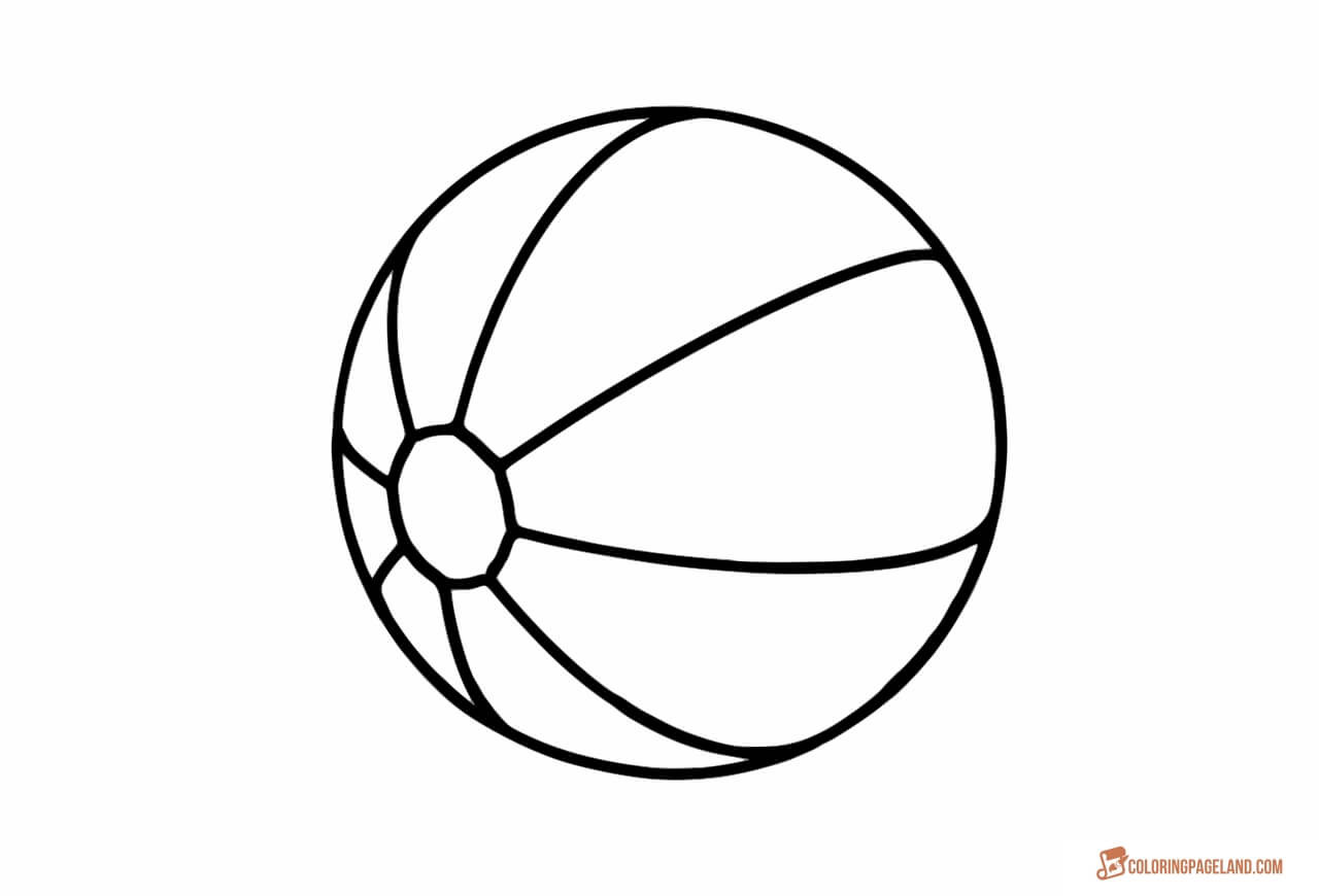 Beach Ball Coloring Pages For Kids Printable  Beach Coloring Pages Free Printable Outline