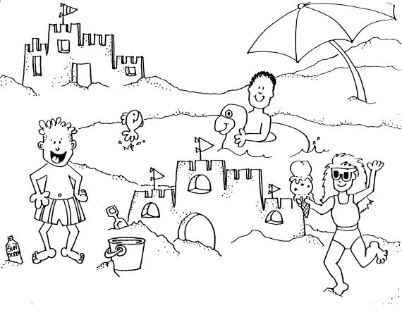 Beach Coloring Pages For Kids  Fun Coloring Pages Beach Coloring Pages