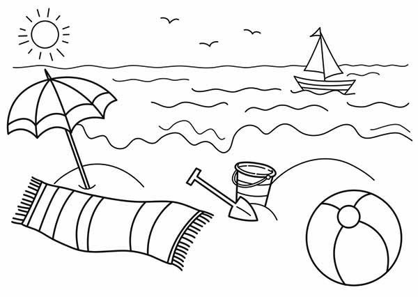 Beach Coloring Pages For Kids  Best Beach Pages For Kids 9771 Bestofcoloring