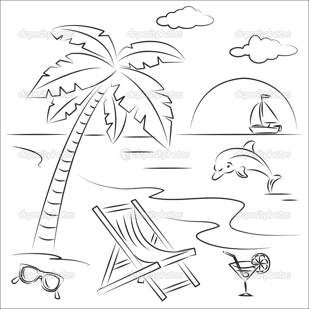Beach Coloring Pages For Kids  The Beach Free Colouring Pages