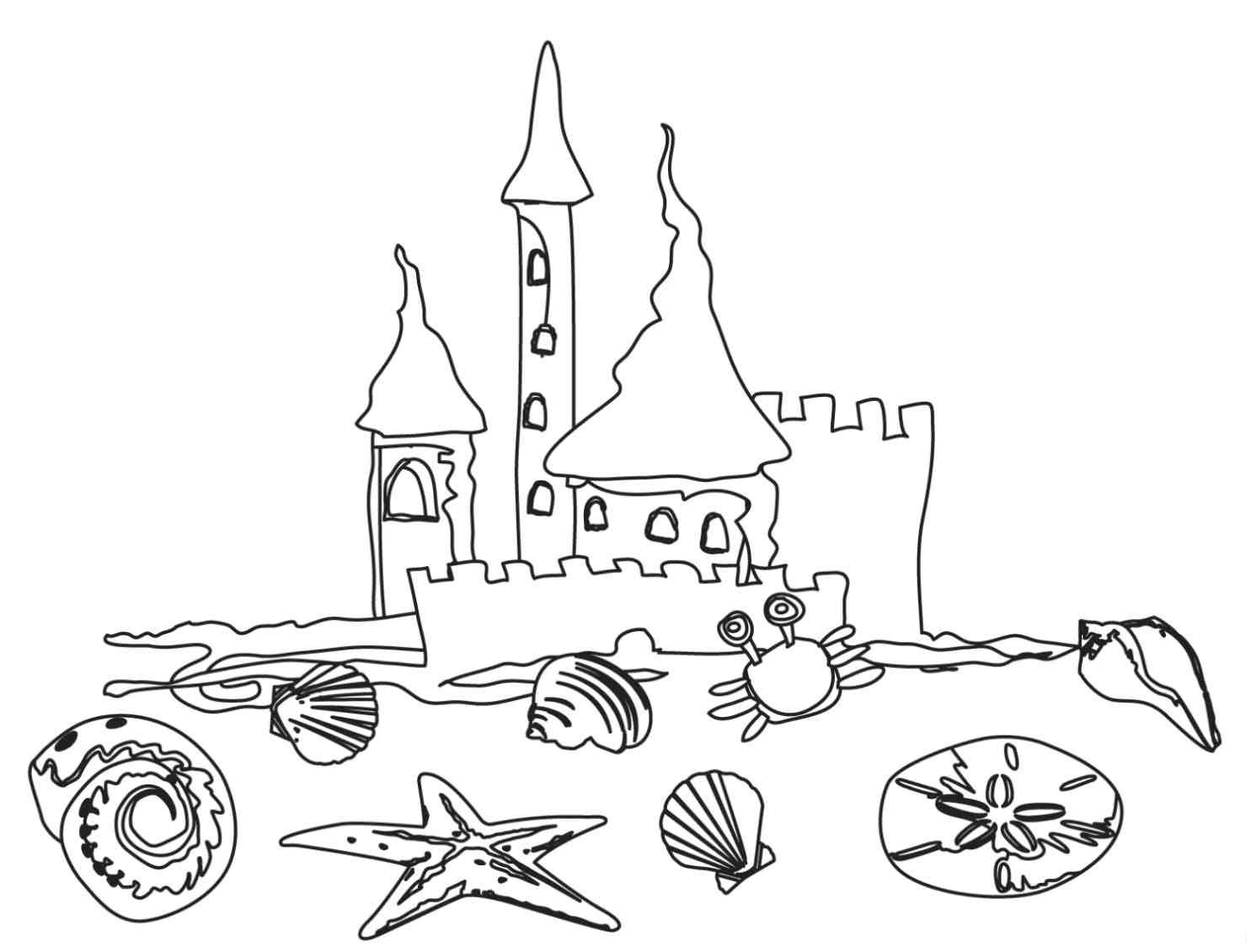 Beach Coloring Pages For Kids  Free Printable Beach Coloring Pages For Kids