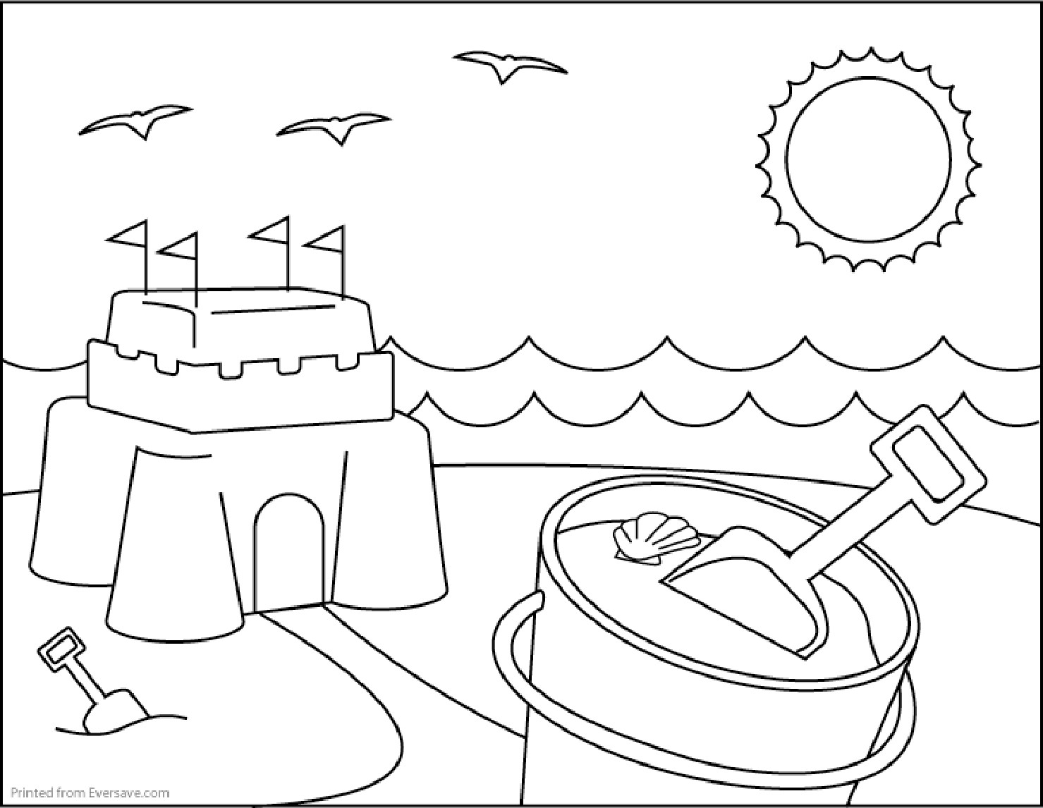 Beach Coloring Pages For Kids  Summer Coloring Pages