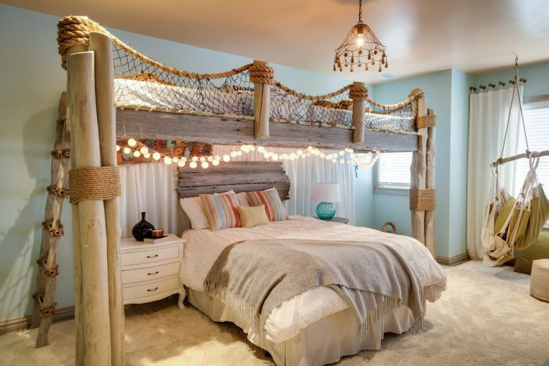 Best ideas about Beach Themed Bedroom . Save or Pin 49 Beautiful Beach And Sea Themed Bedroom Designs DigsDigs Now.