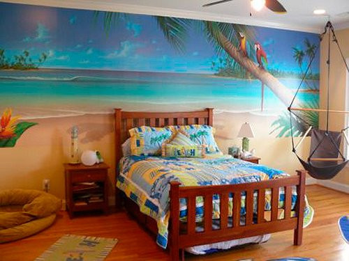 Best ideas about Beach Themed Bedroom . Save or Pin Tropical Themed Bed room Now.
