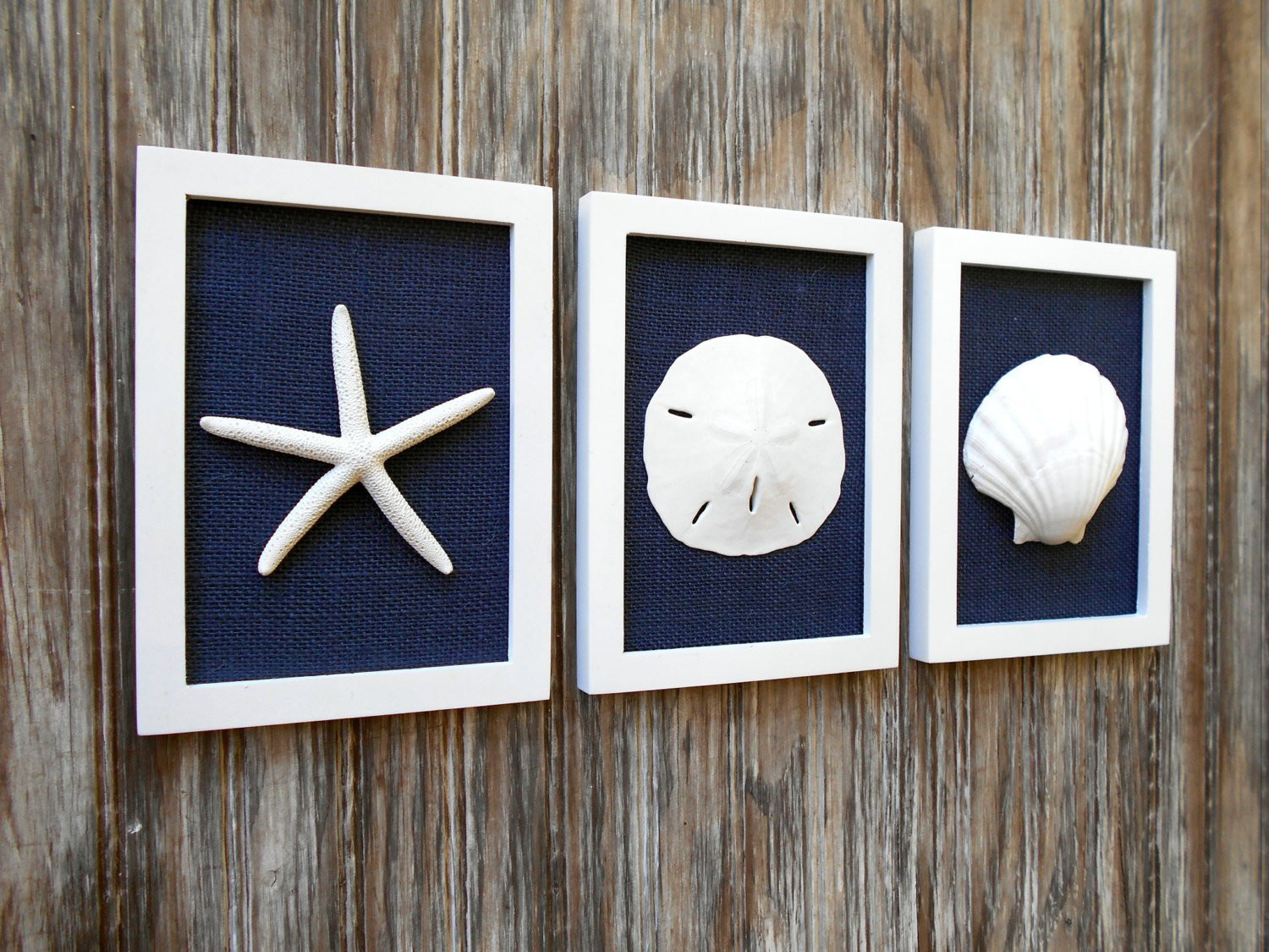 Best ideas about Beach Wall Art . Save or Pin Cottage Chic Set of Beach Wall Art Beach House Decor Navy Now.