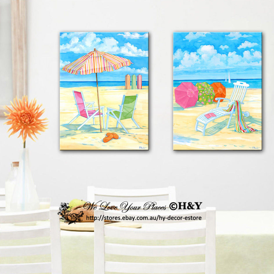 Best ideas about Beach Wall Art . Save or Pin 2 50x70x3cm Summer Beach Framed Canvas Print Wall Art Now.