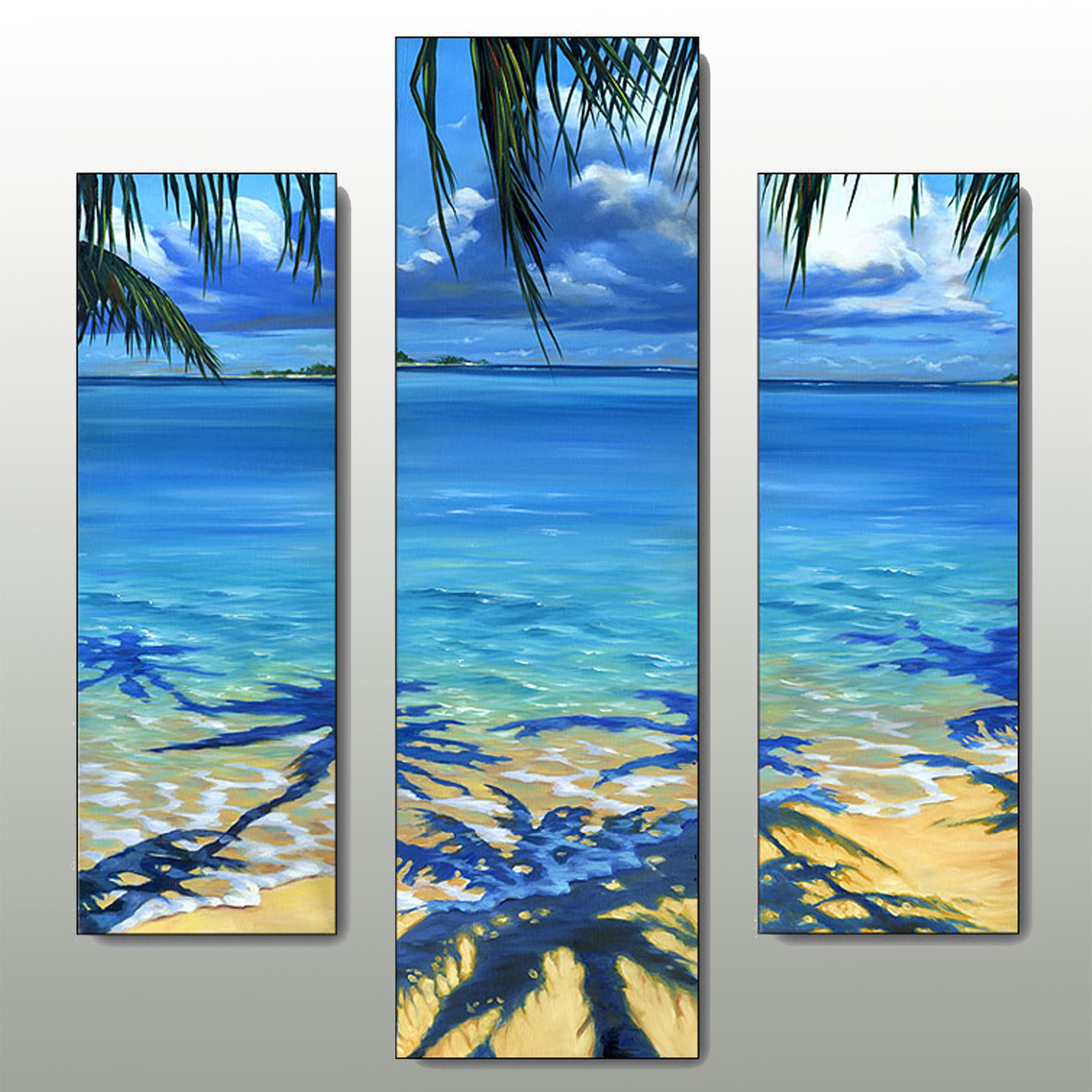 Best ideas about Beach Wall Art . Save or Pin Palm Tree Shadow Beach Triptych Wall Art Set Now.