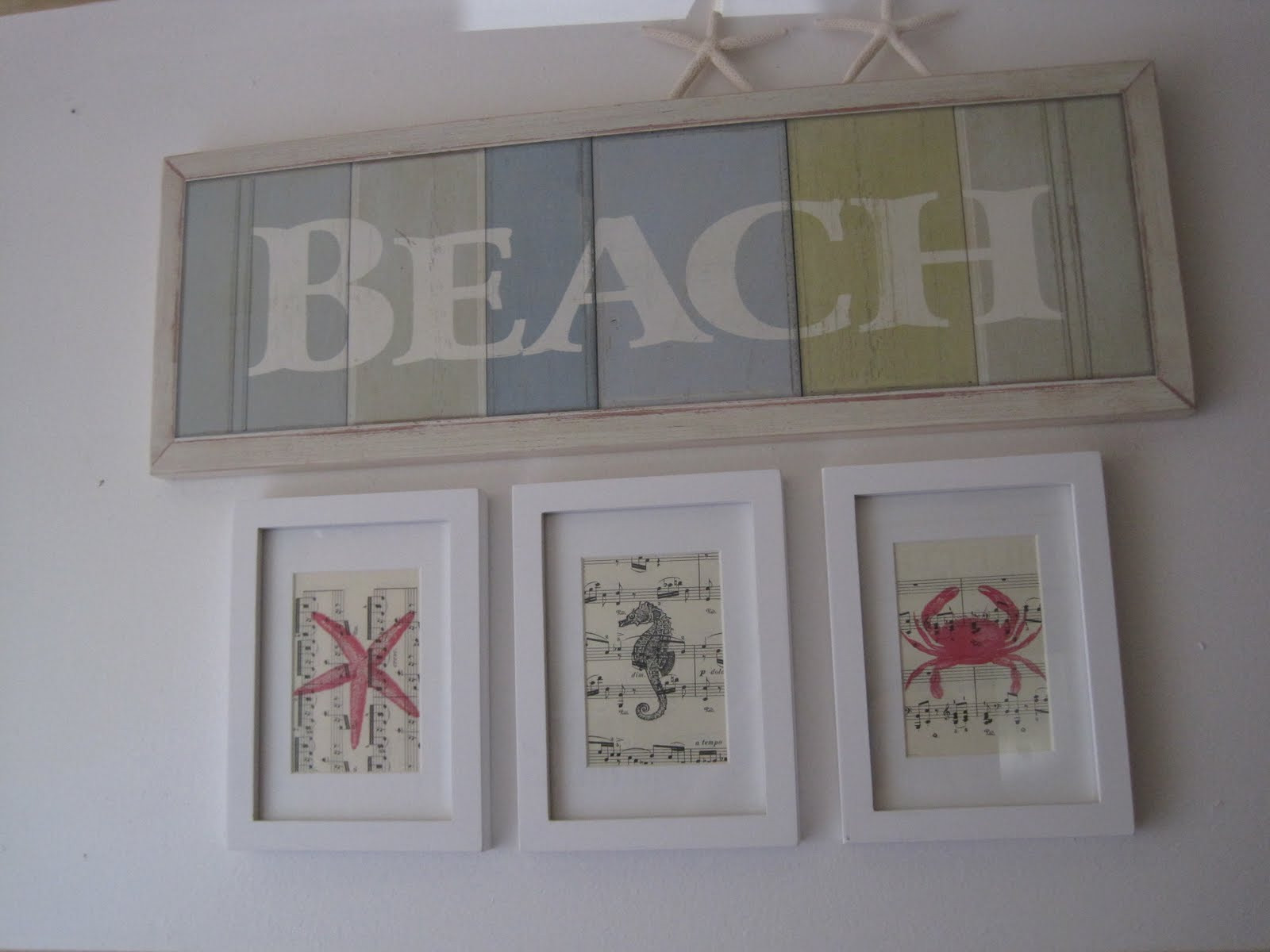 Best ideas about Beach Wall Art . Save or Pin Beach Creatures Wall Art Okio B Designs Now.