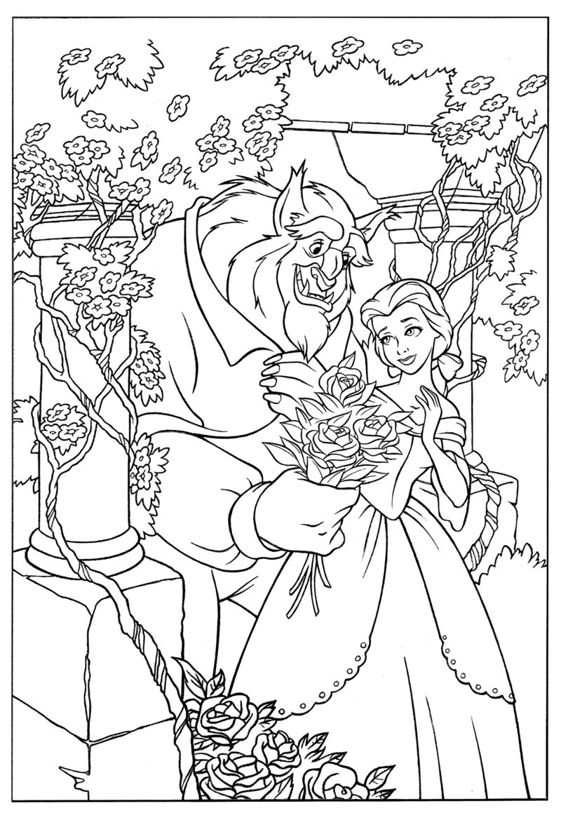 Beauty And The Beast Coloring Pages For Adults  Coloring Pages for Beauty and the Beast