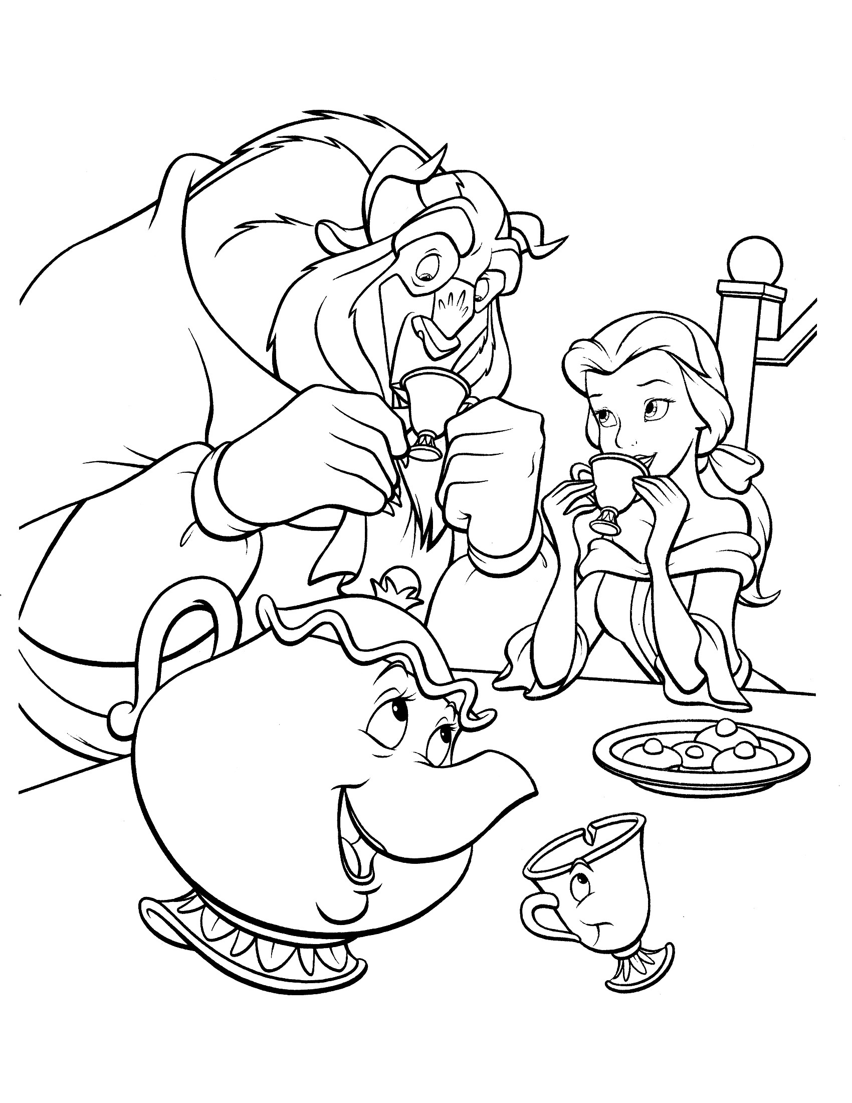 Beauty And The Beast Coloring Pages For Adults  Tale as Old as Time