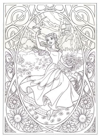 Beauty And The Beast Coloring Pages For Adults  Free Coloring pages printables