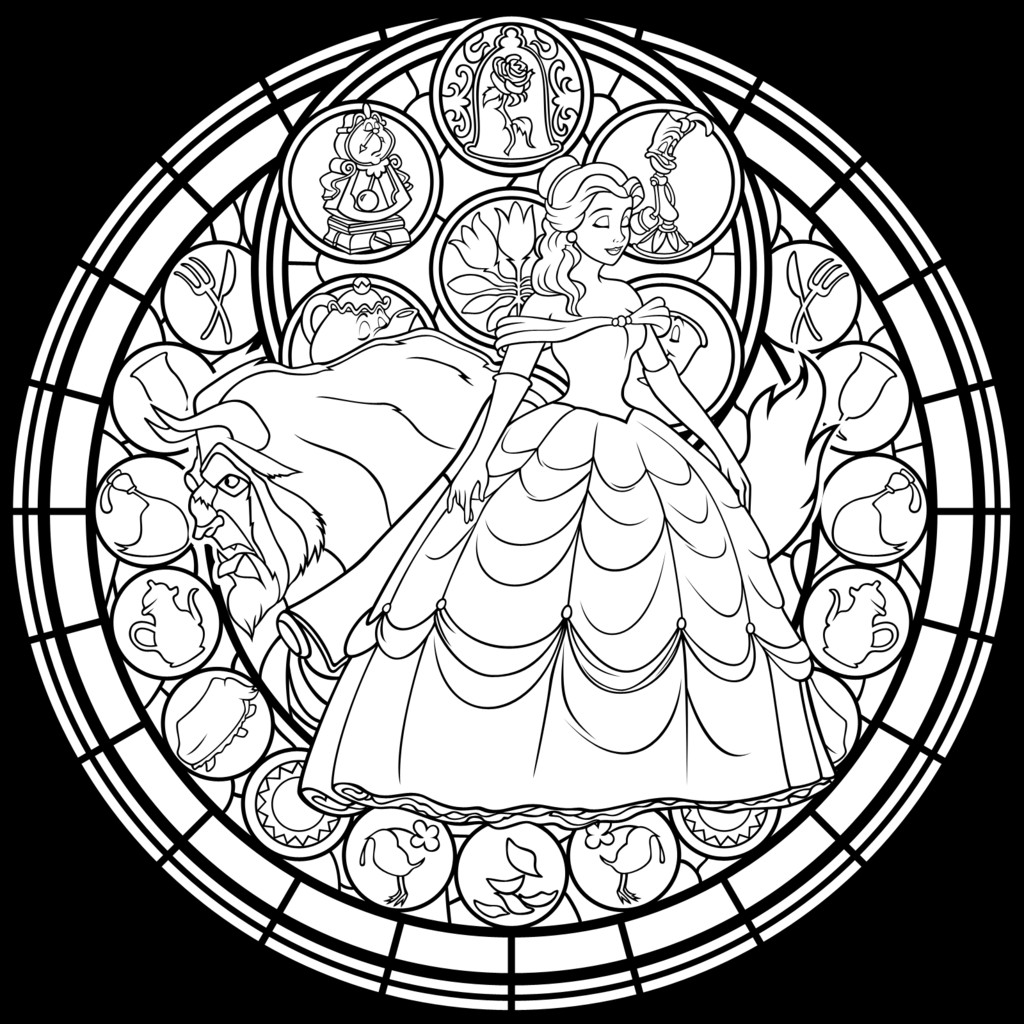 Beauty And The Beast Coloring Pages For Adults  BEAUTY AND THE BEAST Adult Coloring Pages This Fairy