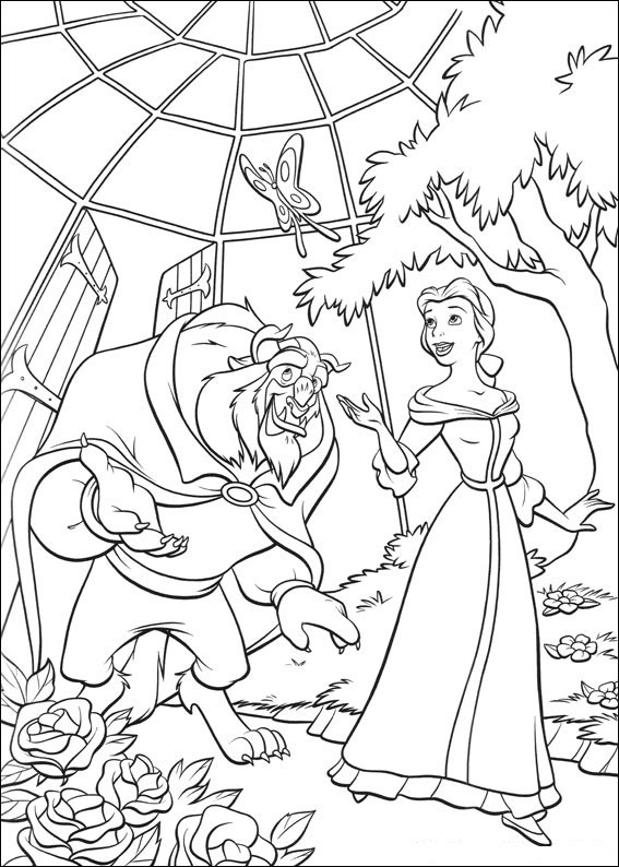 Beauty And The Beast Coloring Pages For Adults  Free Printable Beauty And The Beast Coloring Pages For Kids