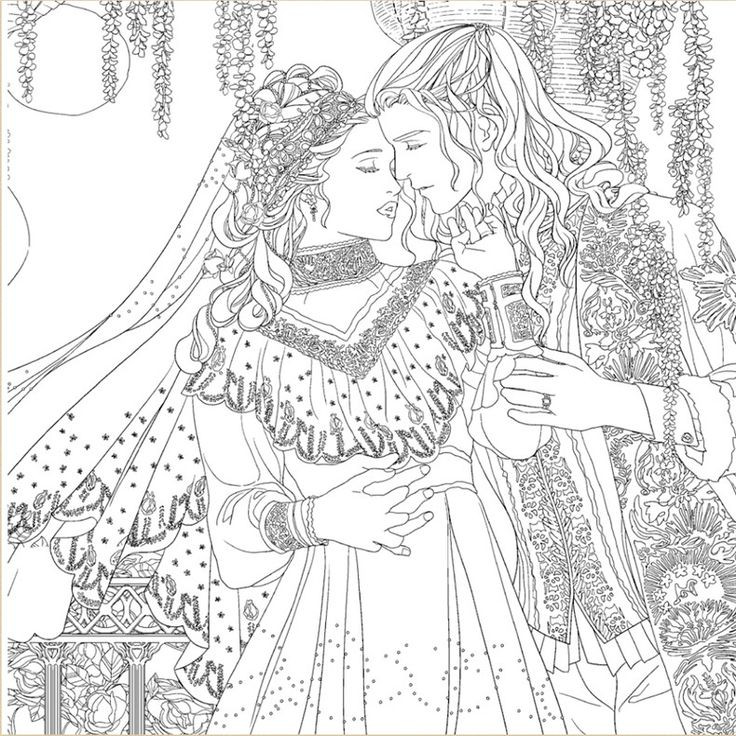 Beauty And The Beast Coloring Pages For Adults  Beauty and The Beast Coloring Book For Adult Children