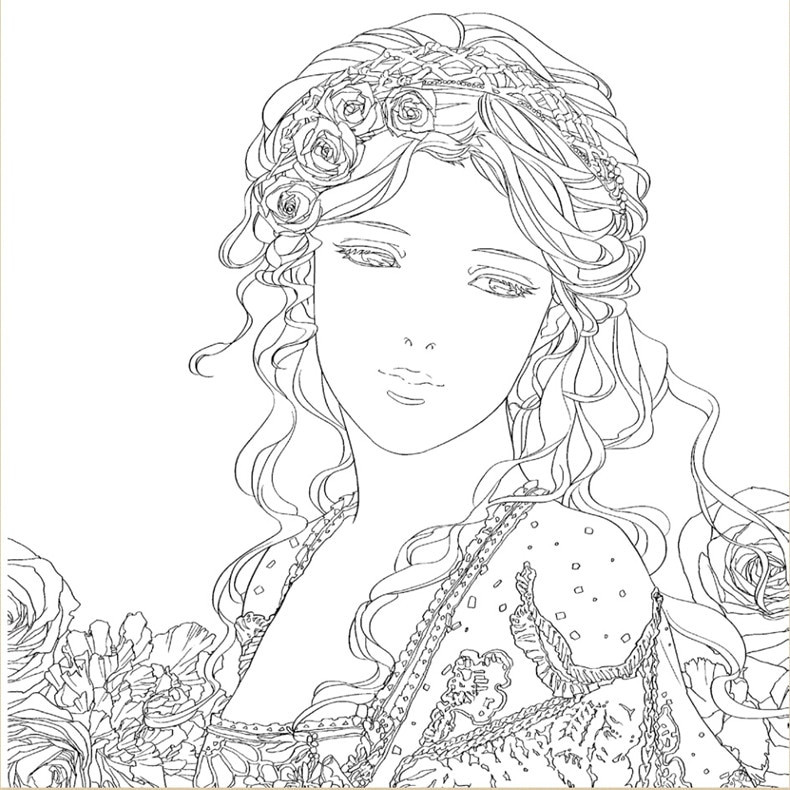 Beauty And The Beast Coloring Pages For Adults  beauty and the beast coloring book