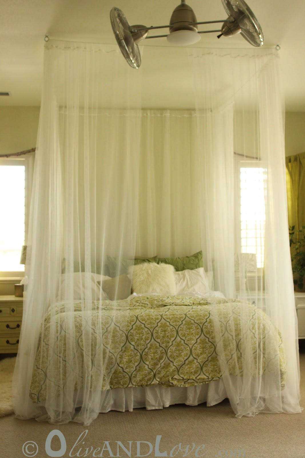 Best ideas about Bed Canopy DIY . Save or Pin Olive and Love Ceiling Mounted Bed Canopy Now.