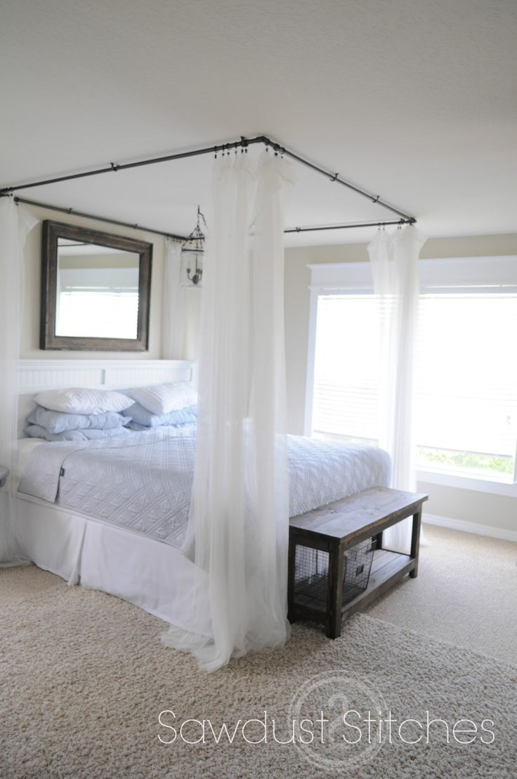 Best ideas about Bed Canopy DIY . Save or Pin Canopies Diy Canopy Bed Now.