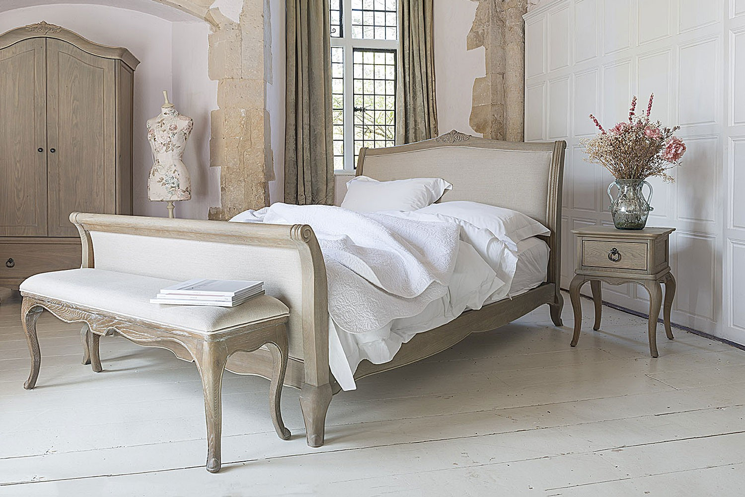 Best ideas about Bedroom In French . Save or Pin Camille French Style Upholstered Bed Crown French Furniture Now.