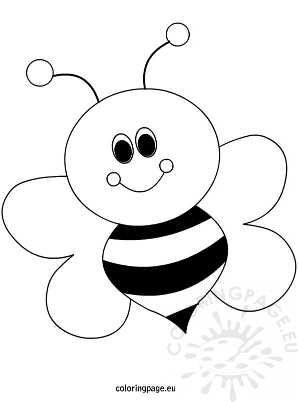 Best ideas about Bee Coloring Pages For Kids . Save or Pin Bees Coloring Page Now.