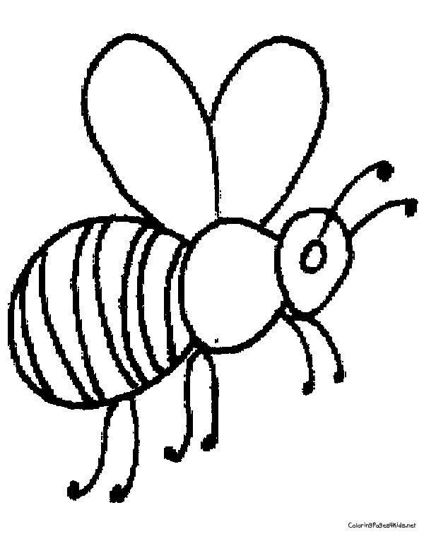 Best ideas about Bee Coloring Pages For Kids . Save or Pin Printable Bumble Bee Coloring Pages For Kids Now.