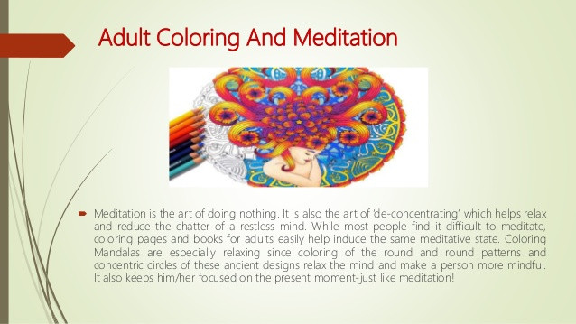Benefits Of Adult Coloring Books  Adult Coloring Book Health Benefits Redefined for Google