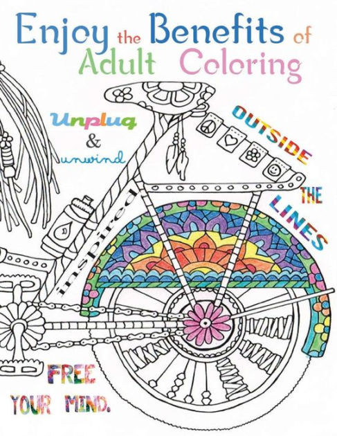 Benefits Of Adult Coloring Books  Enjoy the benefits of Adult Coloring This A4 50 page