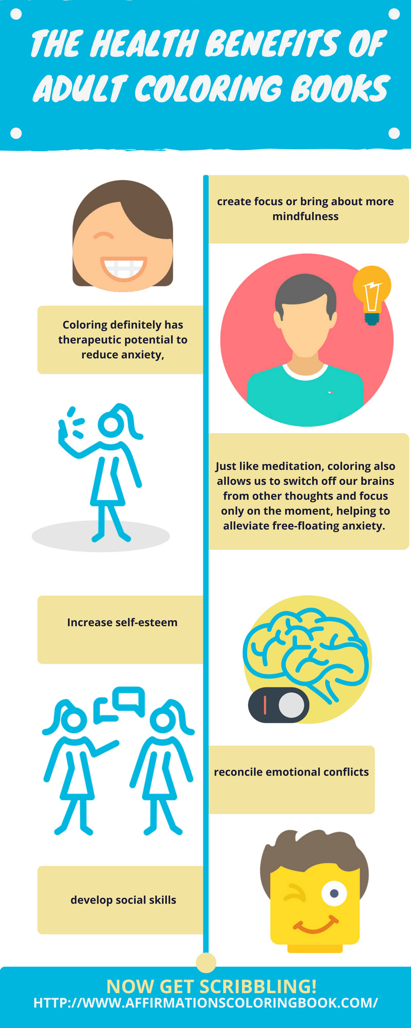 Benefits Of Adult Coloring Books  The Health Benefits of Adult Coloring Books Infographic