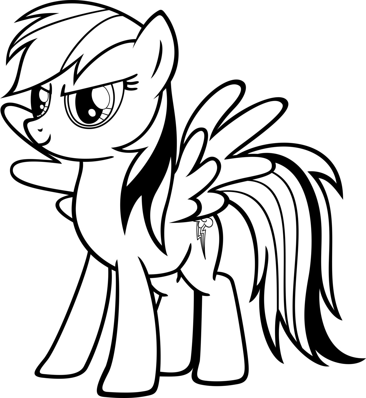 Best Free Coloring Sheets For Kids Printables  Rainbow Dash Coloring Pages Best Coloring Pages For Kids