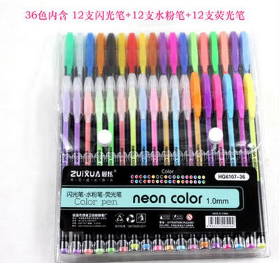 Best Gel Pens For Adult Coloring Books  24 Coloring Gel Pens Adult Coloring Books Drawing Bible