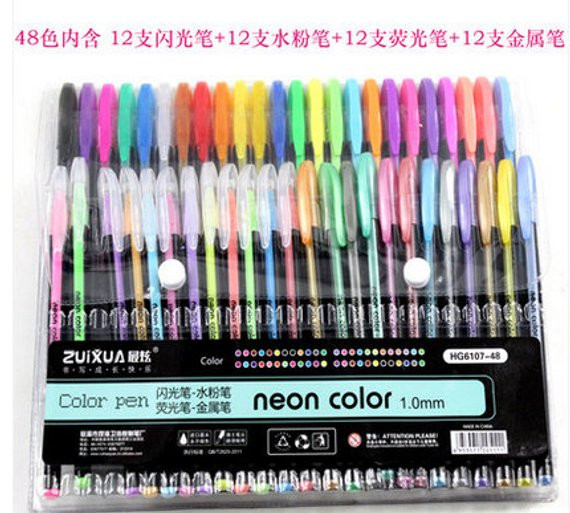 Best Gel Pens For Adult Coloring Books  48 Coloring Gel Pens Adult Coloring Books Drawing Bible