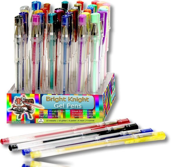 Best Gel Pens For Adult Coloring Books  36 Coloring Gel Pens Adult Coloring Books by