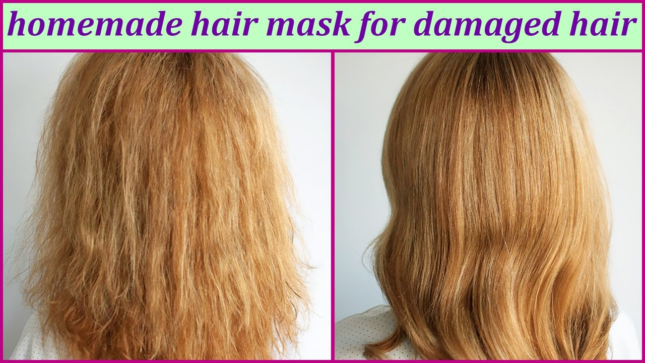 Best Hair Mask For Damaged Hair DIY  Homemade Hair Mask For Damaged Hair