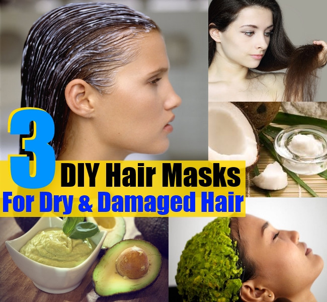 Best Hair Mask For Damaged Hair DIY  3 DIY Hair Masks For Dry And Damaged Hair