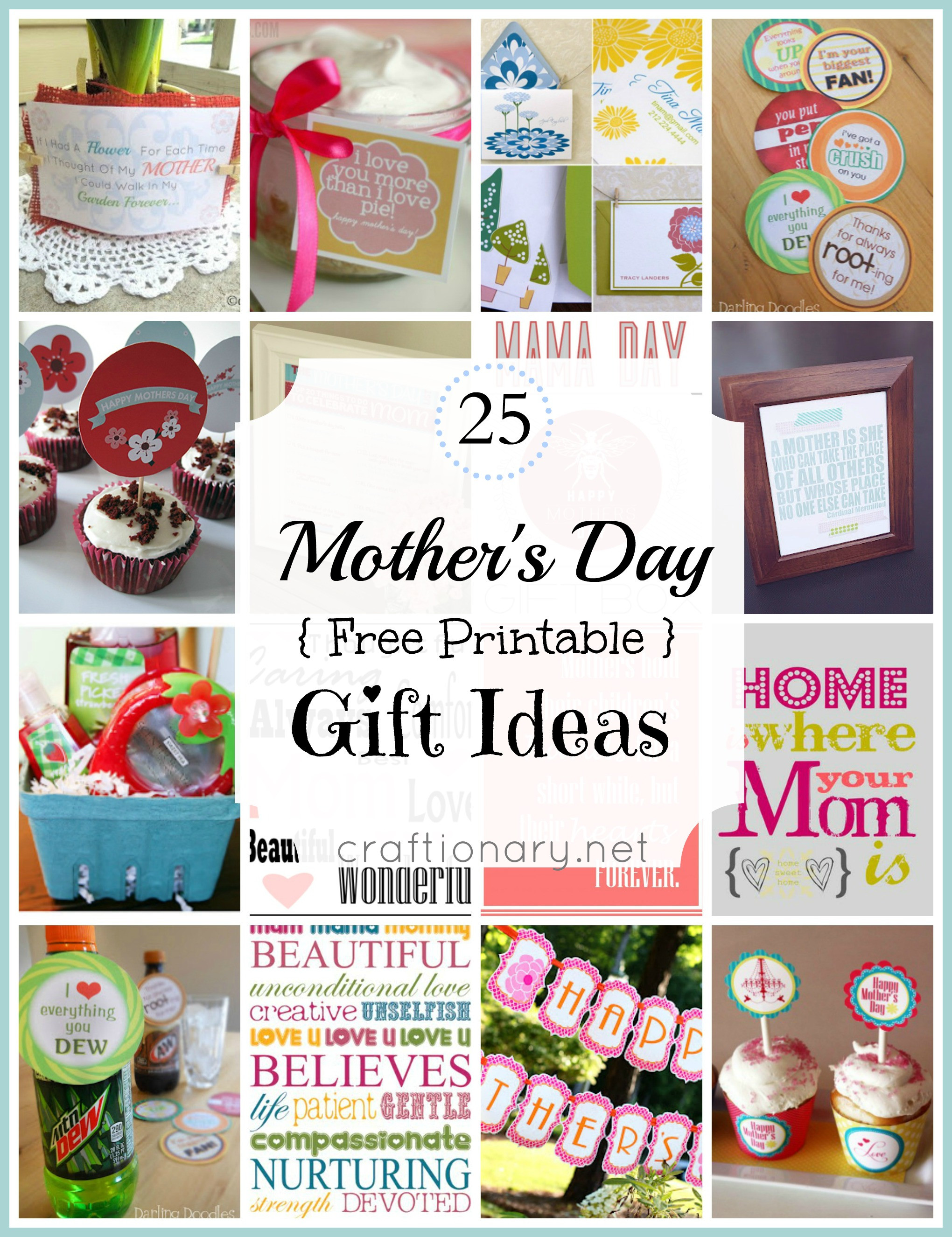Best Mothers Day Gift Ideas  Craftionary