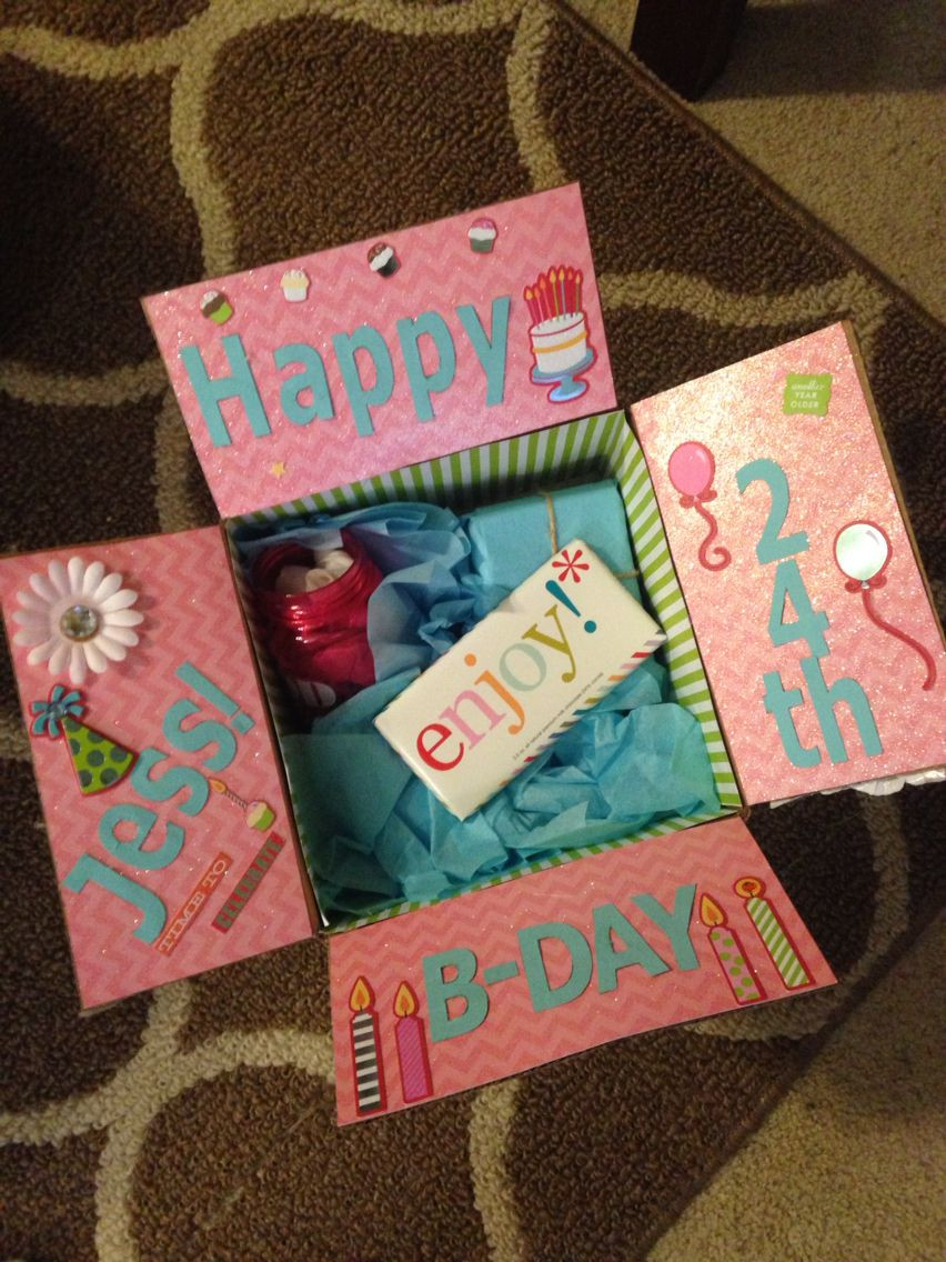 Bff Birthday Gift Ideas  Best friend birthday box Decorate the inside of the box