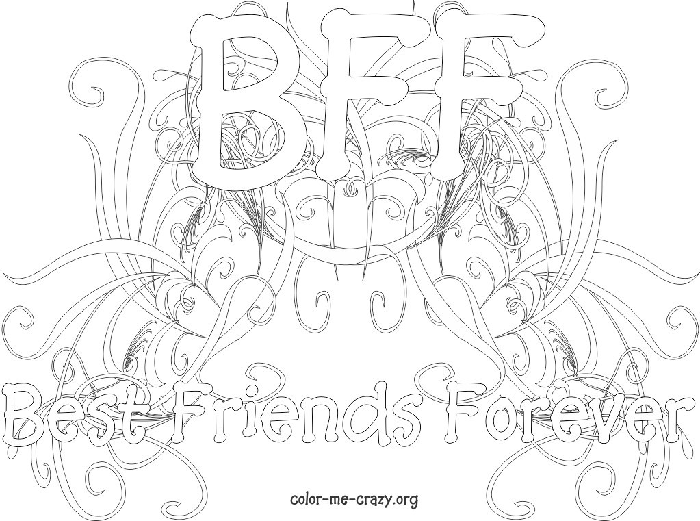 Bff Coloring Sheets For Girls  ColorMeCrazy September 2011