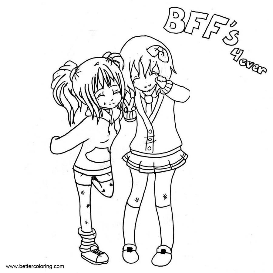 Bff Coloring Sheets For Girls  BFF Coloring Pages Girls Free Printable Coloring Pages