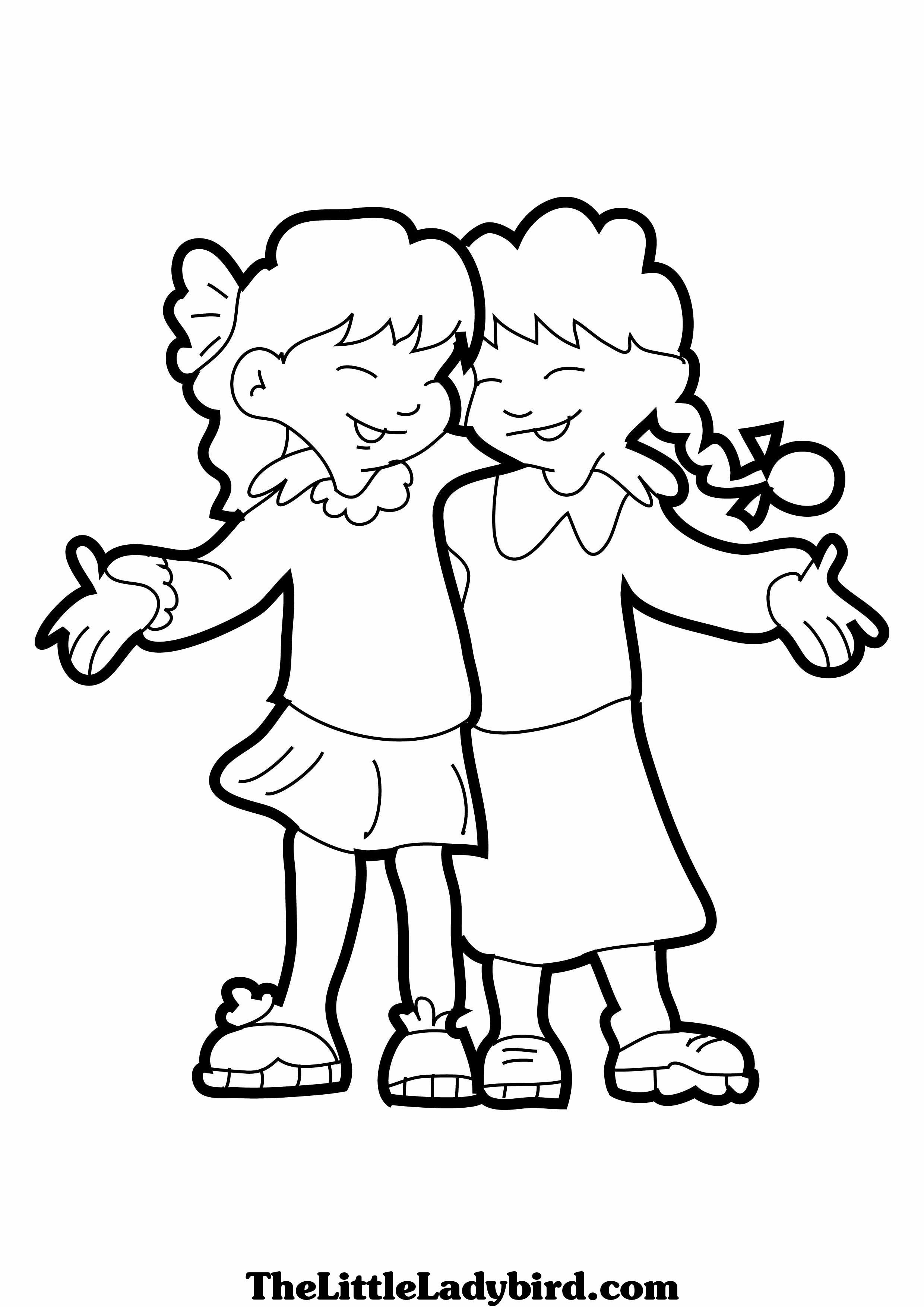 Bff Coloring Sheets For Girls  Bff Coloring Pages For Girls To Color grig3