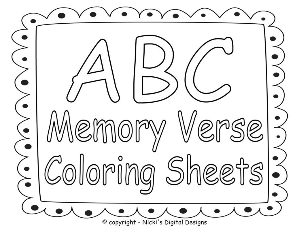 Bible Verse Coloring Sheets For Kids  Coloring Pages Bible Coloring Pages For Kids With Verses