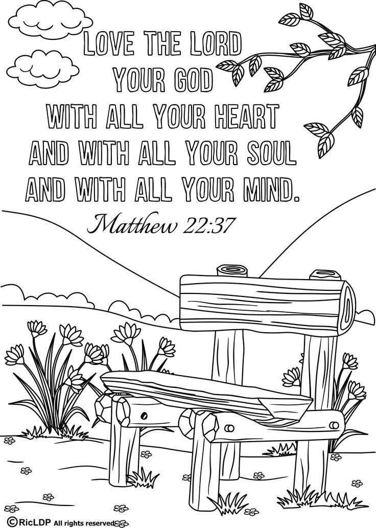 Bible Verse Coloring Sheets For Kids  Free Bible Verse Coloring Pages For Kids The Color Panda