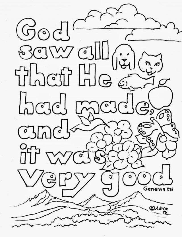 Bible Verse Coloring Sheets For Kids  Bible Verse Coloring Page Coloring Home